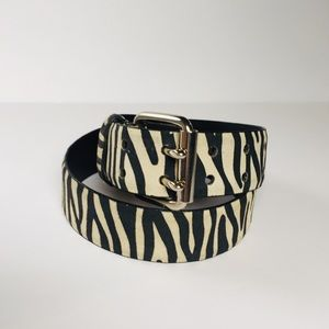 {NY & Co} zebra suede belt